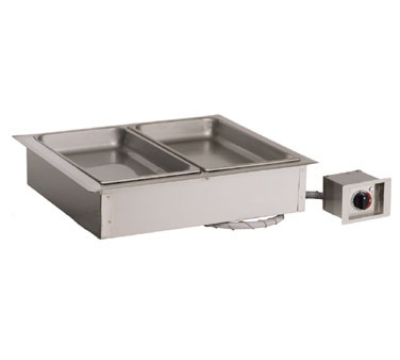 Alto Shaam 200-HW/D4 2301 Drop In Hot Food Well Unit, 2-Full-Size 4-in Deep Pans, Export