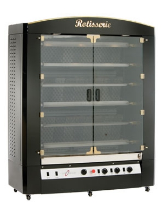 Alto Shaam AR-6G LP Rotisserie Broiler w/ (6) s/s Skewers, Black Enamel, LP
