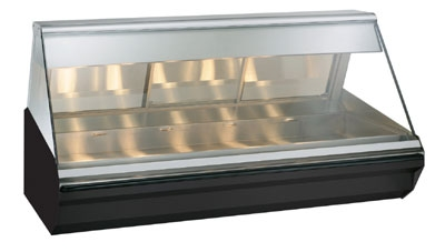 Alto Shaam EC2-72-SS Full Serve Heat Display Case, Lift-Up Flat Glass, 72-in, Stainless