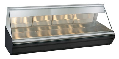 Alto Shaam EC2-96-SS Full Serve Heat Display Case, Lift-Up Flat Glass, 96-in, Stainless