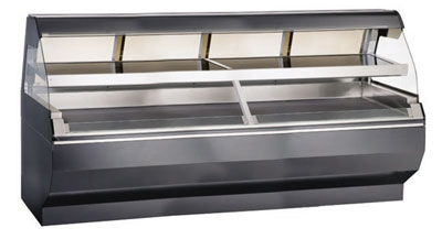 Alto Shaam ED2-96/2S-C 2081 Self Service Two Tier Display Case, Heated, 96-in, Custom, Export