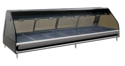 Alto Shaam ED2SYS-96-SS Full Service Heated Display Case, European Style, 96-in, Stainless