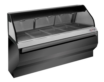 Alto Shaam ED2SYS-72/2S-BLK 72-in Display Case w/ 2-Tiers & 5-Pan Capacity, Glass Sliding Rear Doors, Black