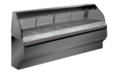 Alto Shaam ED2SYS-96/2S-SS 2081 2-Tier Display Case w/ European Base, 96-in, Stainless, Export