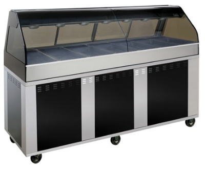 Alto Shaam EU2SYS-96/PL-BLK Hot Deli Cook Display, 2-ft Self Left Side, 96-in, Black