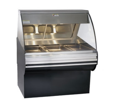 Alto Shaam HN2SYS-48/P-BLK Self Service Deli Display Case w/ Base, Heated, 48-in, Black