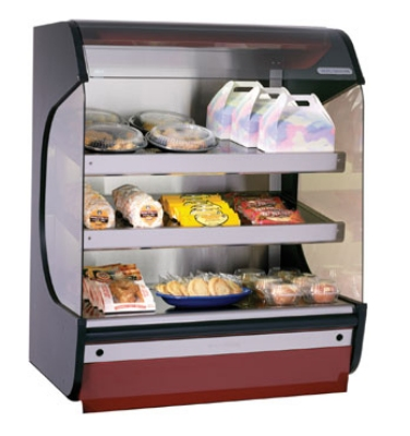Alto Shaam HSM-38/3S 2301 Hot Food Merchandiser w/ (3) Heated Glass Shelves, Export