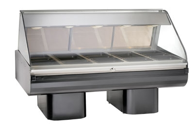 Alto Shaam PD2SYS-72-BLK Full Serve Hot Deli, 72-in, (2) 8 x 36-in Shelf, Black
