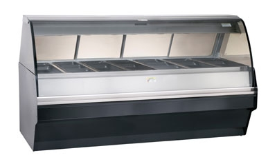 Alto Shaam TY2SYS-96-SS Full Serve Hot Deli Display w/ TY2-96 Case, Stainless