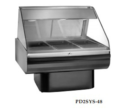 Alto Shaam PD2SYS-48/P-SS 120 48-in Display Case, Pedestal Base & Work Shelf, Stainless, 120/208-240/1 V