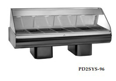Alto Shaam PD2SYS-96/PL-SS 230 96-in Display Case w/ Left-Side Service Opening, Stainless, Export
