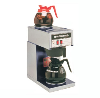 Bloomfield 8543-D2 Koffee King Pourover Coffee Brewer, 2-Warmers, Stainless, 120V