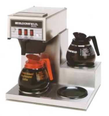 Bloomfield 8571-D3 Koffee King Pourover Coffee Brewer, 3-Lower Warmers, Step Right