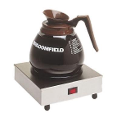 Bloomfield 8851S Single Coffee Warmer w/ Enameled Plate, 7.5 x 7.5 x 3-in