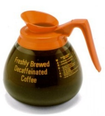 Bloomfield DCF8889O24 Plastic & Stainless Unbreakable Decaf Decanter w/ Orange Handle