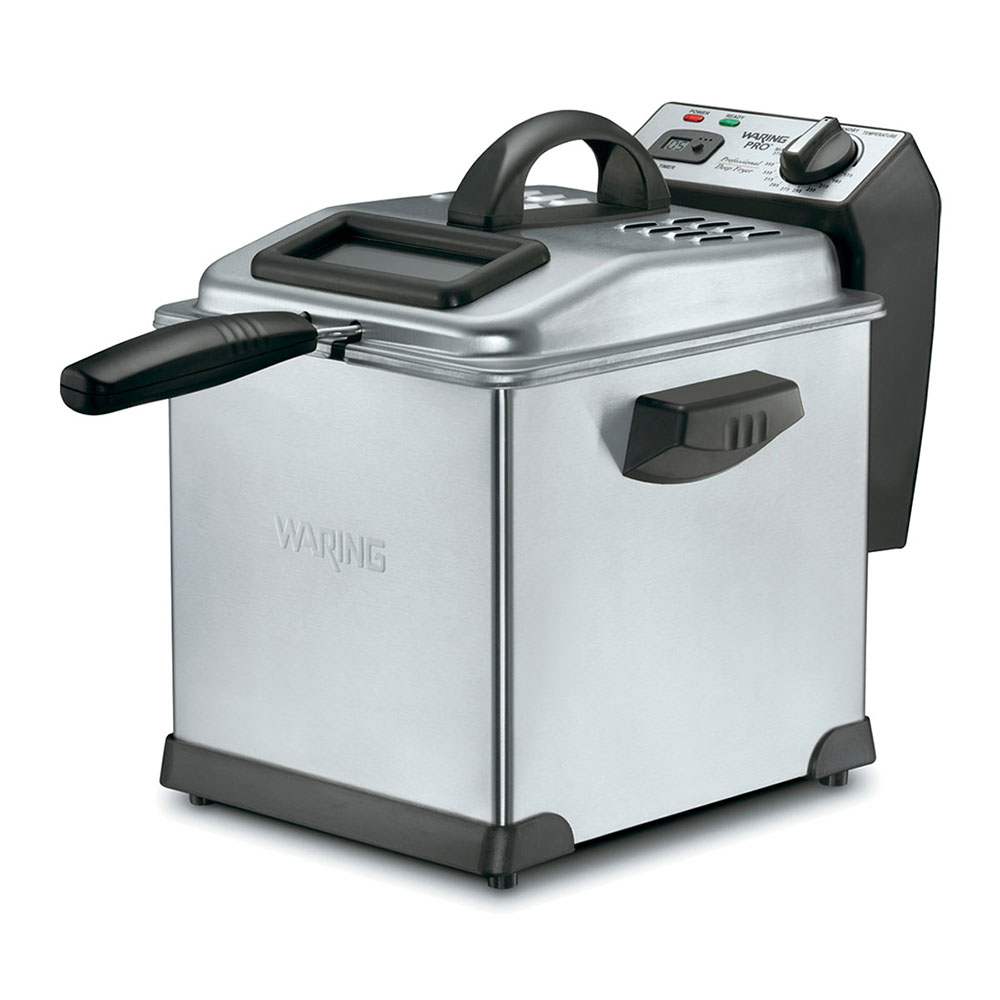 Waring DF175 Digital Deep Fryer w/ Removable Oil Container & Timer, 1.7-lb Food