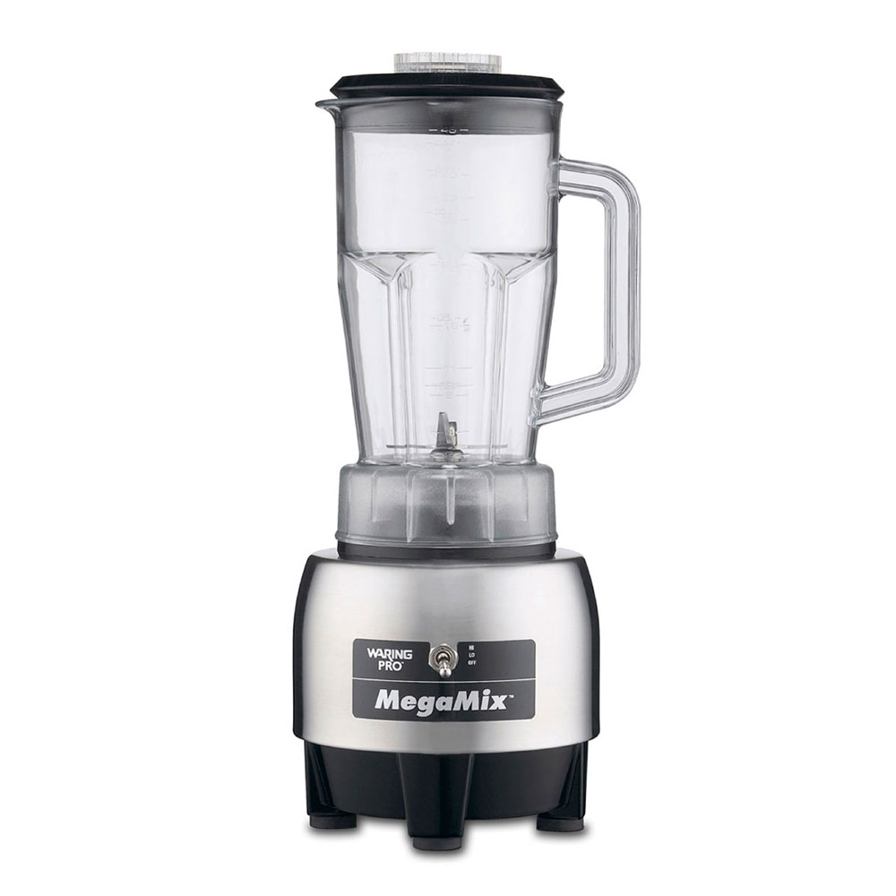 Waring HPB300 Specialty MegaMix Blender w/ 48-oz Poly Carafe, Brushed Stainless