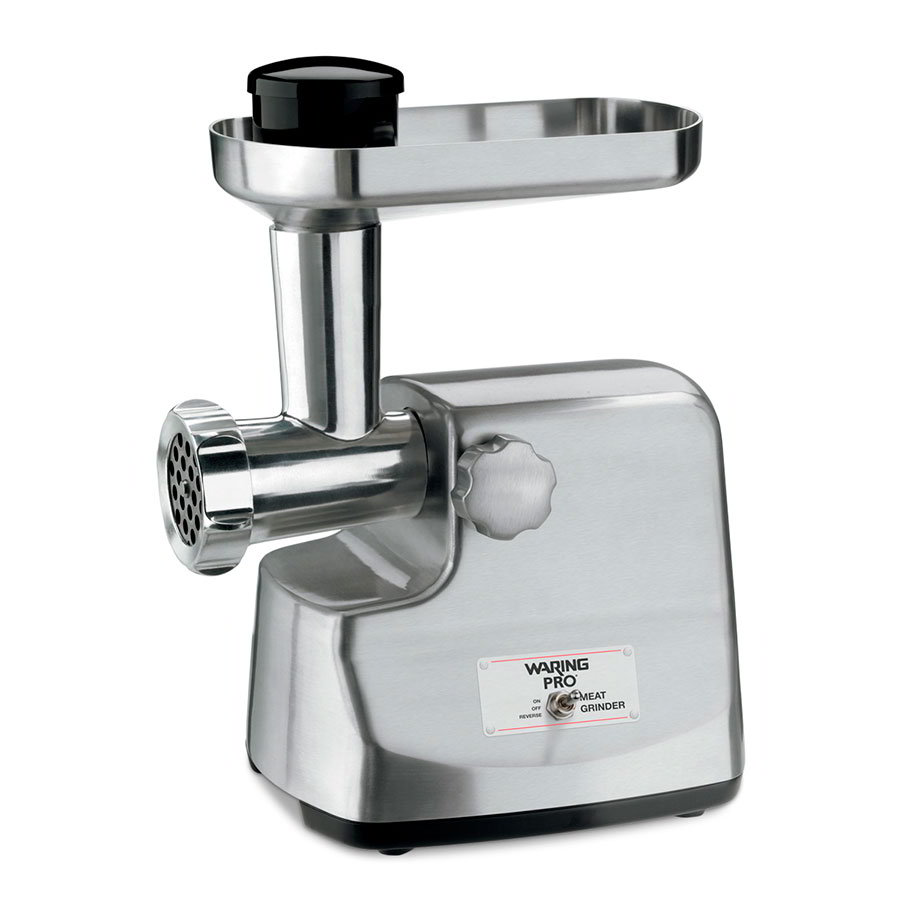 Waring MG855 Meat Grinder w/ 4-lbs/min Capacity & 3-Stainless Cutting Plates
