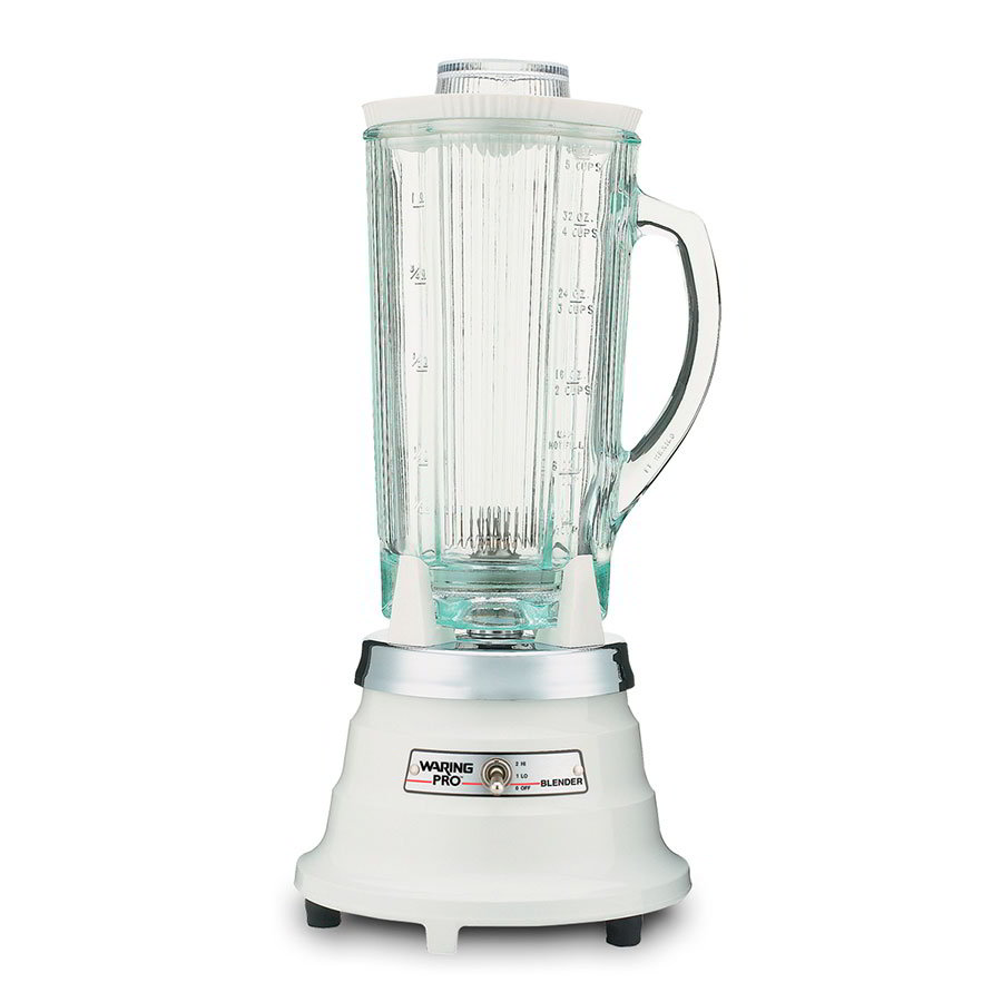 Waring PBB201 2-Speed Food Beverage Blender w/ 40-oz Glass Carafe, Quite White