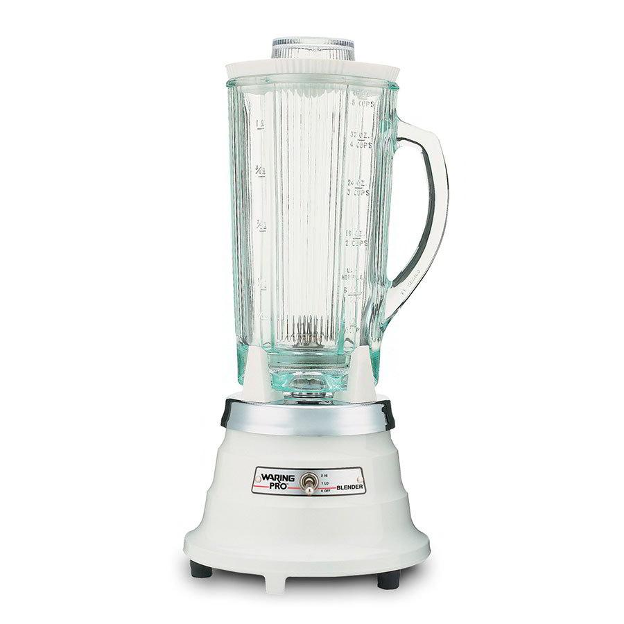 Waring PBB201 2-Speed Food Beverage Blender w/ 40-oz Glass Carafe, Quite White