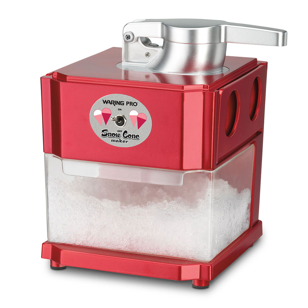 Waring SCM100 Snow Cone Maker w/ Pull-Out Serving Tray & 12-Ice Cube Capacity