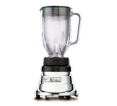 Waring BB160 2-Speed Bar Blender w/ 48-oz Capacity & Polycarbonate Container, Chrome Zinc Base