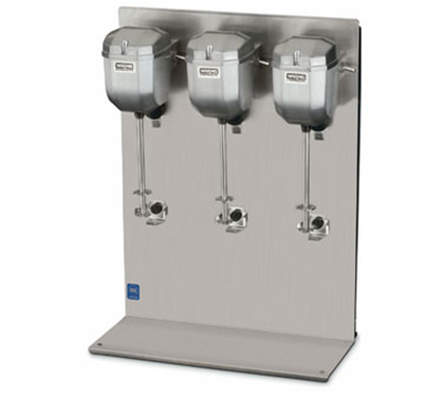 Waring DMC201DCA Counter-Mounted Heavy Duty Commercial Drink Mixer w/ 2-Speeds & Triple Head
