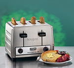 Waring WCT800 4-Slice Heavy Duty Commercial Toaster w/ 4-Wide Slots & 300-Slice/hr, Stainless