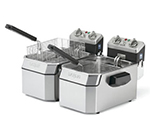 Countertop Single Deep Fryer w/ 15-lb Capacity & 3-Baskets, Timer, 208V