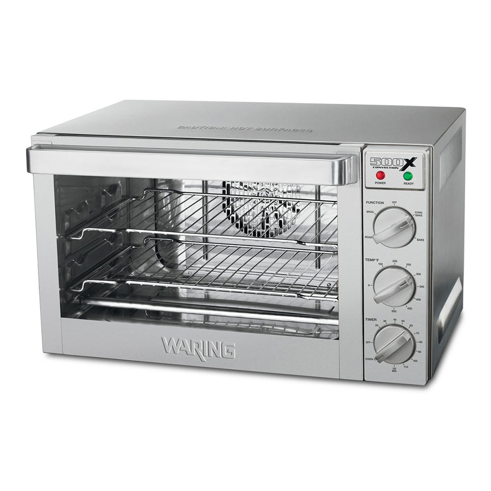 Waring WCO500X Countertop Convection Oven w/ Rotisserie & 4-Half Sheet Pan Capacity, 1.5-cu ft