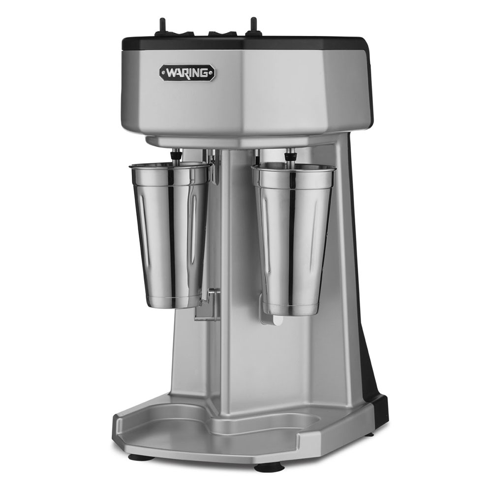 Waring WDM240 Counter Mounted Drink Mixer w/ 2-Spindle & 3-Speed Motor, Stainless Cups, 240V