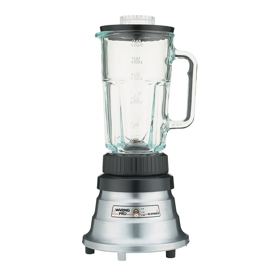 Waring WPB05BC 2-Speed Bar Blender w/ 40-oz Glass Carafe, Brushed Chrome