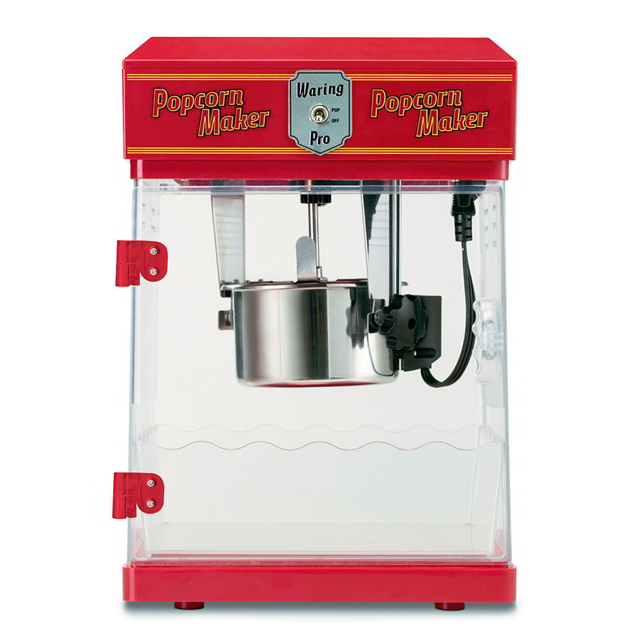 Waring WPM25 Popcorn Maker Yields 8-Cups Popped Corn, Chili Red