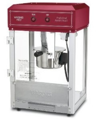 Waring WPM30 Popcorn Maker Yields 10-Cups Popped Corn, Chili Red