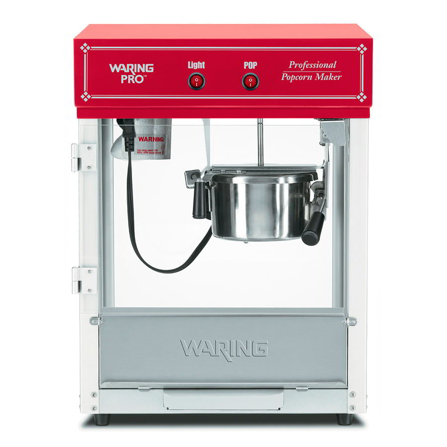 Waring WPM40 Popcorn Maker Yields 12-Cups Popped Corn, Chili Red