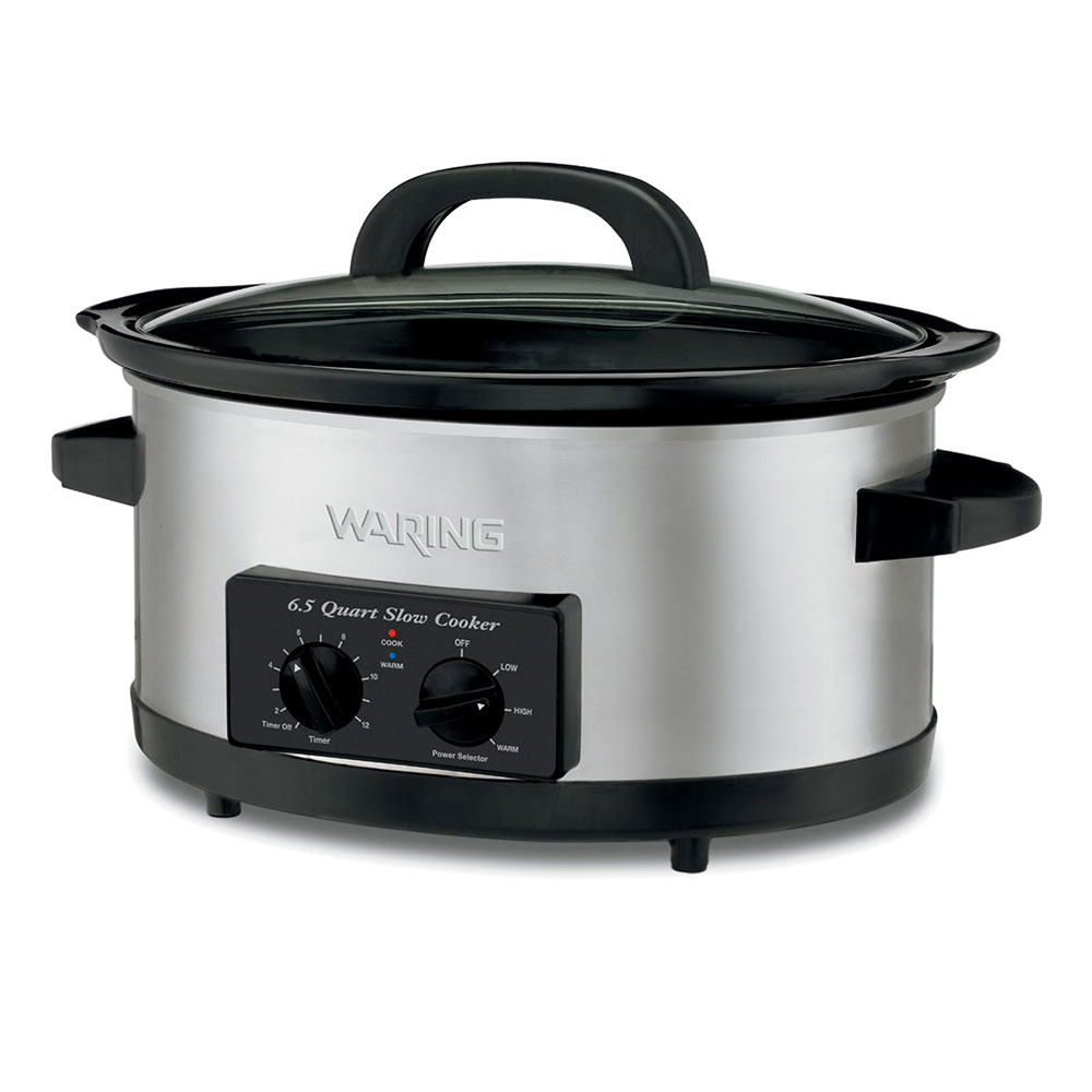 Waring WSC650 Slow Cooker w/ 6.5-qt Ceramic Cook & Serve Pot, Automatic Keep Warm Function