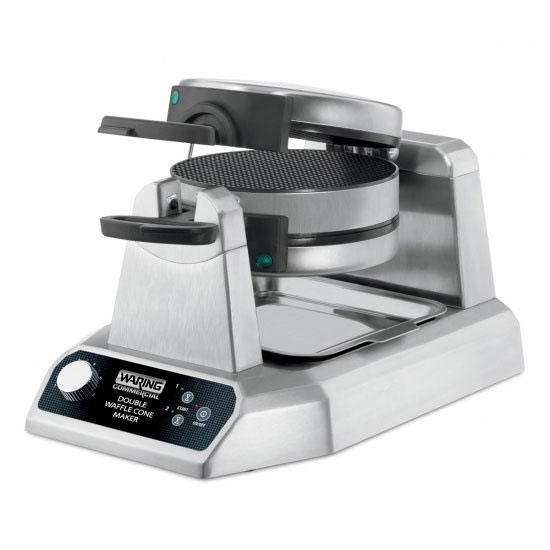 Waring WWCM200 Non-Stick Double Waffle Cone Maker w/ (25) 7-in Per Hour, Rotary