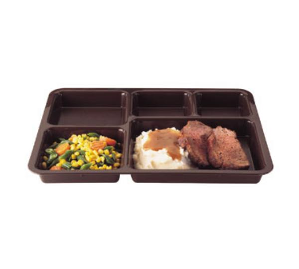 Cambro 1411CP414 Tray-on-Tray Delivery 14-3/8 x 10-9/16 x 1-1/4 in Co-polymer Teal Restaurant Supply
