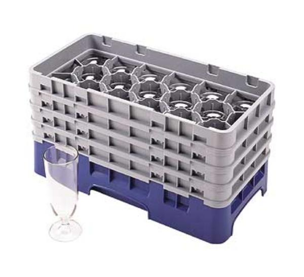 Cambro 17HS638416 Camrack 1/2 Size 17 Compartments 5-1/4 H 2-15/16 in D Cranberry NSF Restaurant Supply
