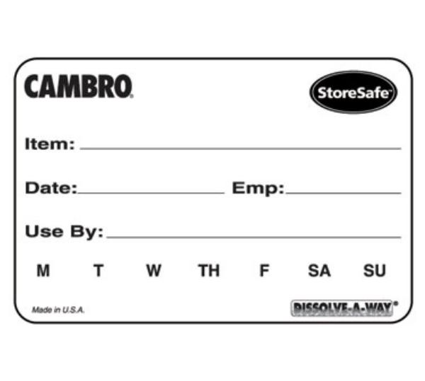"Cambro 23SLINB250148 StoreSafe Food Rotation Blank Labels - 2x3"" 250 Per Roll"