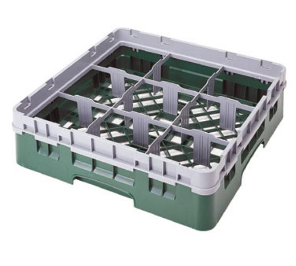 Cambro 9S434416 Camrack 9 Compartments 5-1/4 High 5-7/8 in D Cranberry NSF Restaurant Supply