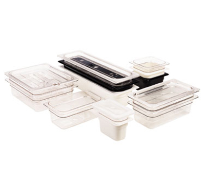 "Cambro 16CW110 Camwear Food Pan - Full Size, 6""D, Black"
