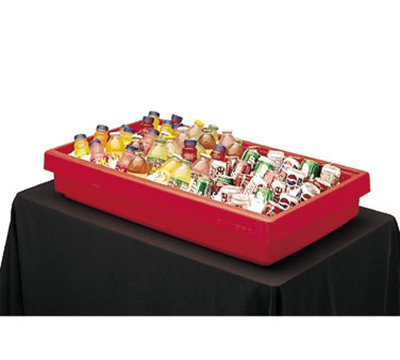 "Cambro BUF72110 Table Top Food Bar - 67.5x24x7"" 5-Pan Capacity, Blac"