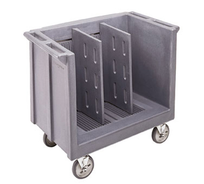 Cambro TDC30192 Adjustable Dish Cart - 2-Dividers, 500-lb Cap