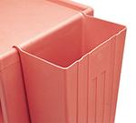 Cambro BC331KDTC110 8-gal Trash Container - KD Service Cart, Black