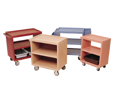"Cambro BC3304S157 Service Cart - (3)18x27"" Shelves, (4)Swivel Castors, Coffee Beige"
