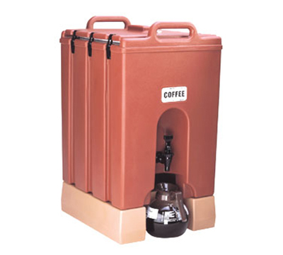Cambro 1000LCD402 10-gal Camtainer Beverage Carrier - Insulated, Brick Red