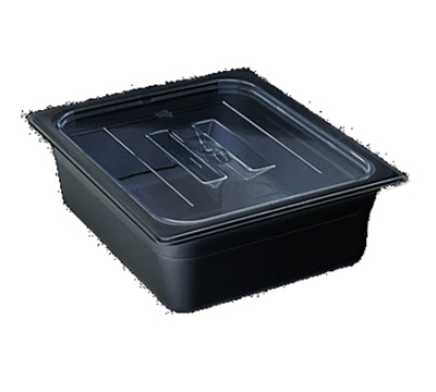 Cambro 10CWCH110 Camwear Food Pan Cover - Full Size, Flat, Handle, Black