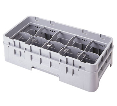 Cambro 10HE2151 Half Drop Camrack Extender - 10-Compartment, Half-Size, Soft Gray