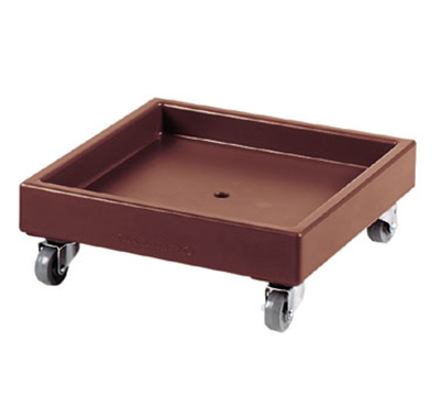 "Cambro CD2020131 Camdolly - 22-1/2x22-1/2x8-1/4"" 300-lb Capacity, Dark Brown"